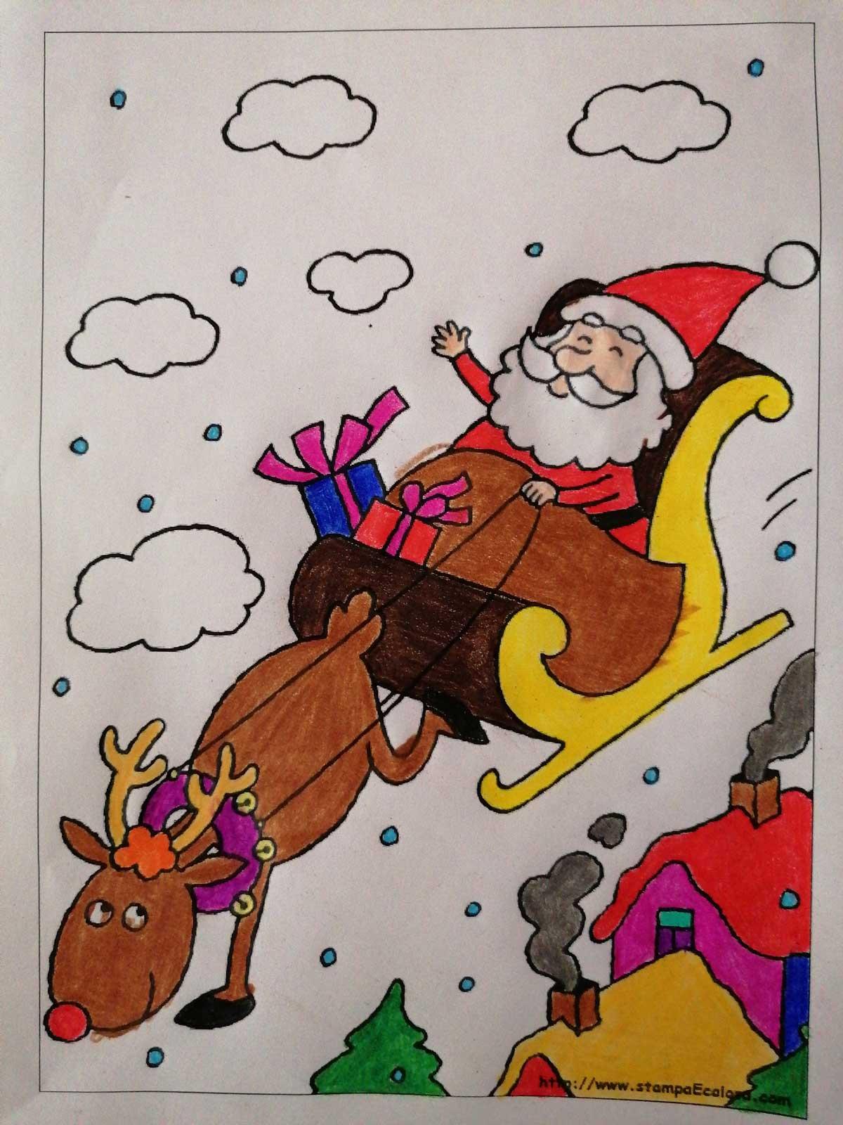 92.-Babbo-Natale-e-la-renna-Rudolph-volano-sulla-slitta_Christel